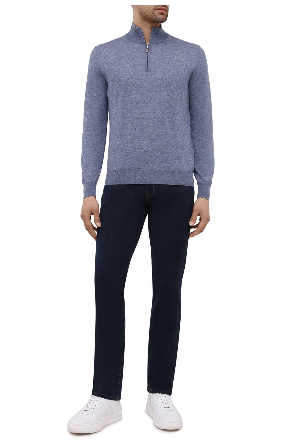 Мужские джинсы CANALI темно-синего цвета, арт. 91700R/PD00817 | Фото 2