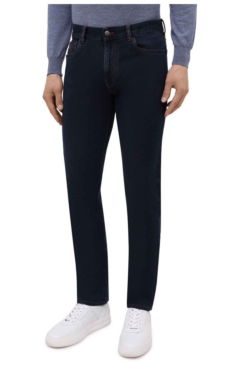 Мужские джинсы CANALI темно-синего цвета, арт. 91700R/PD00817 | Фото 3