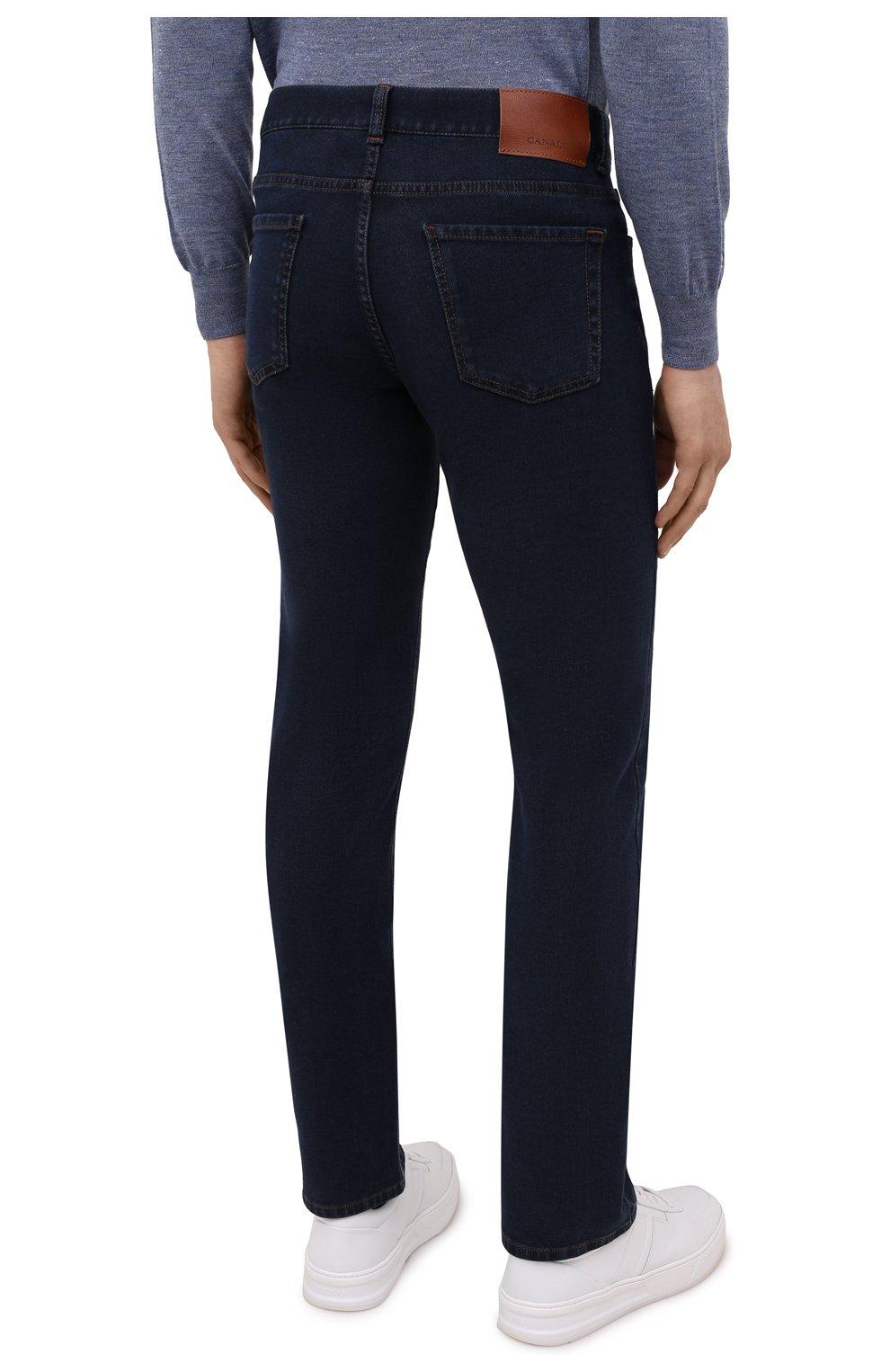 Мужские джинсы CANALI темно-синего цвета, арт. 91700R/PD00817 | Фото 4