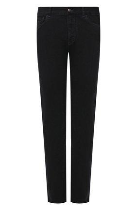 Мужские джинсы CANALI черного цвета, арт. 91700R/PD00841 | Фото 1 (Материал внешний: Хлопок, Деним; Длина (брюки, джинсы): Стандартные; Силуэт М (брюки): Прямые; Стили: Классический)