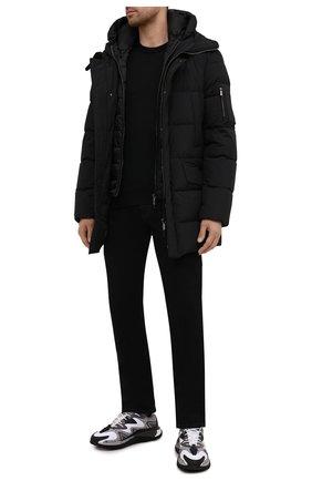 Мужские джинсы CANALI черного цвета, арт. 91700R/PD00841 | Фото 2 (Материал внешний: Хлопок, Деним; Длина (брюки, джинсы): Стандартные; Силуэт М (брюки): Прямые; Стили: Классический)