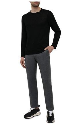 Мужские шерстяные брюки CANALI темно-серого цвета, арт. V1659/AR03472 | Фото 2