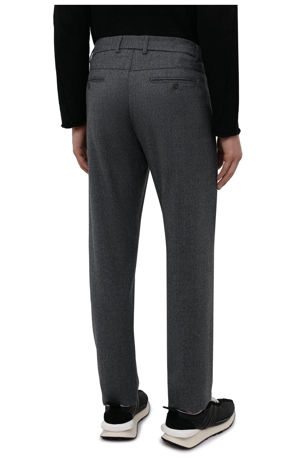 Мужские шерстяные брюки CANALI темно-серого цвета, арт. V1659/AR03472   Фото 4