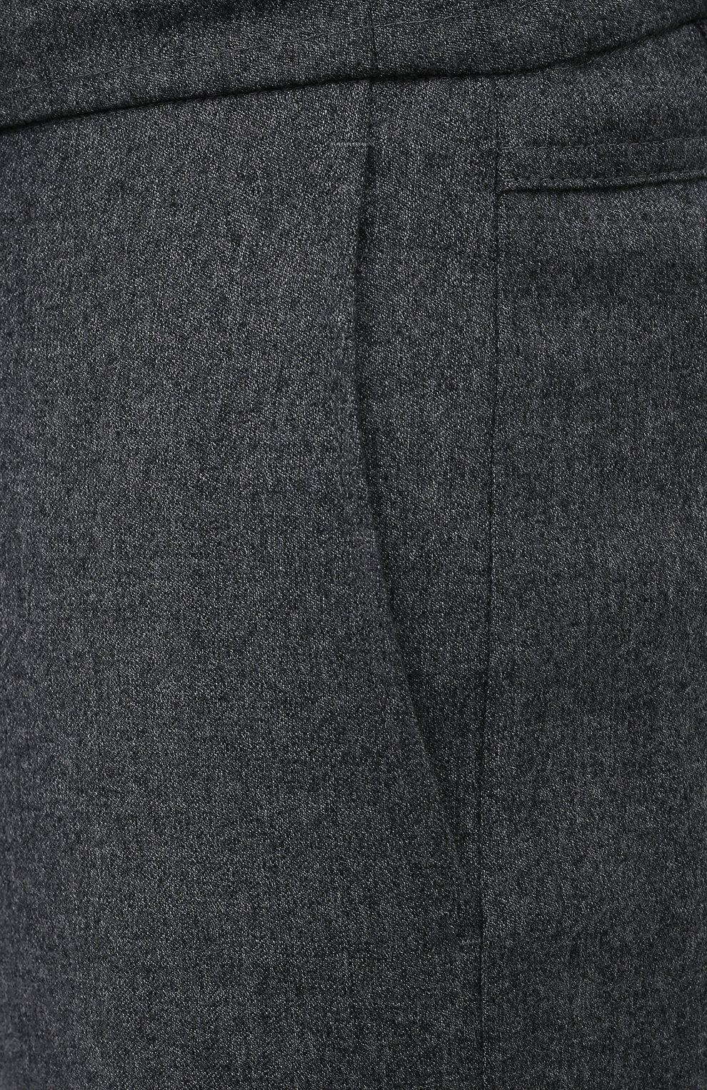 Мужские шерстяные брюки CANALI темно-серого цвета, арт. V1659/AR03472   Фото 5