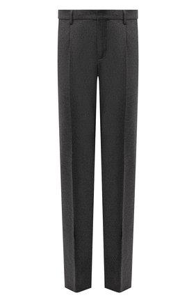 Мужские брюки из шерсти и кашемира LORO PIANA темно-серого цвета, арт. FAI3468   Фото 1