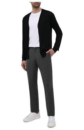 Мужские брюки из шерсти и кашемира LORO PIANA темно-серого цвета, арт. FAI3468   Фото 2