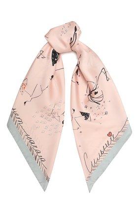 Женский шелковый платок rendez-vous RADICAL CHIC розового цвета, арт. 240144.21.02   Фото 1