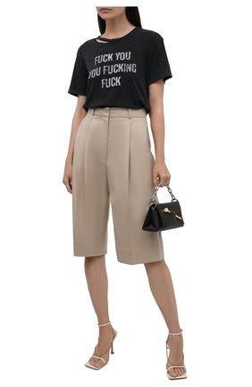 Женская хлопковая футболка R13 темно-серого цвета, арт. R13W3949-09   Фото 2