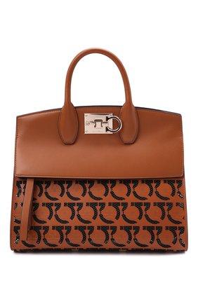 Женская сумка SALVATORE FERRAGAMO коричневого цвета, арт. Z-0742267 | Фото 1