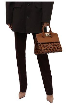 Женская сумка SALVATORE FERRAGAMO коричневого цвета, арт. Z-0742267 | Фото 2