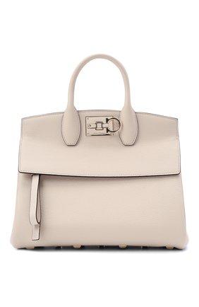 Женская сумка SALVATORE FERRAGAMO кремвого цвета, арт. Z-0722629   Фото 1