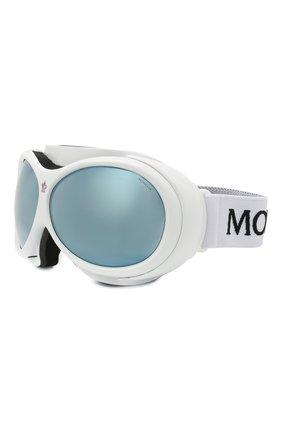 Женские горнолыжная маска MONCLER белого цвета, арт. ML 0130 21C 89 с/з очки | Фото 1