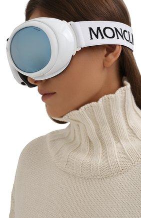 Женские горнолыжная маска MONCLER белого цвета, арт. ML 0130 21C 89 с/з очки | Фото 2