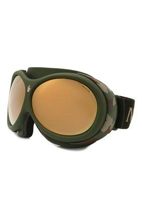 Женские горнолыжная маска MONCLER хаки цвета, арт. ML 0130 97C 89 с/з очки | Фото 1