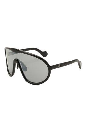 Женские солнцезащитные очки MONCLER черного цвета, арт. ML 0184 01C 00 с/з очки   Фото 1