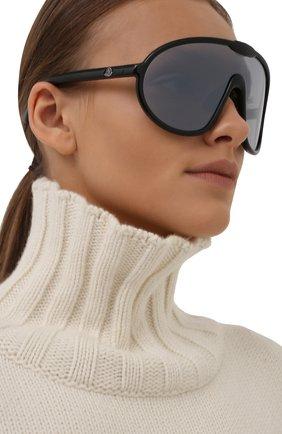 Женские солнцезащитные очки MONCLER черного цвета, арт. ML 0184 01C 00 с/з очки   Фото 2