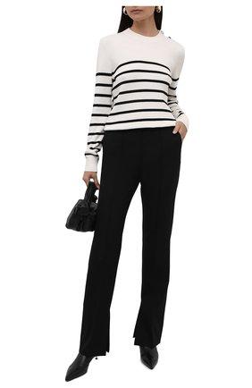 Женский хлопковый пуловер BOSS белого цвета, арт. 50453050   Фото 2