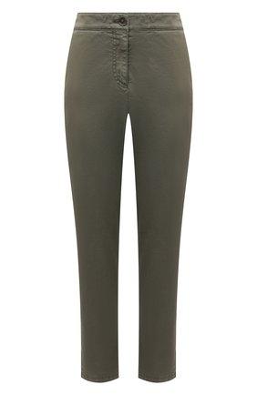 Женские хлопковые брюки BOSS хаки цвета, арт. 50460782 | Фото 1