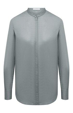 Женская хлопковая рубашка BOSS серого цвета, арт. 50436922 | Фото 1