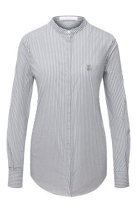 Женская хлопковая рубашка BOSS серого цвета, арт. 50437147 | Фото 1