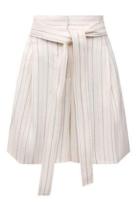 Женские шорты BOSS молочного цвета, арт. 50454157 | Фото 1