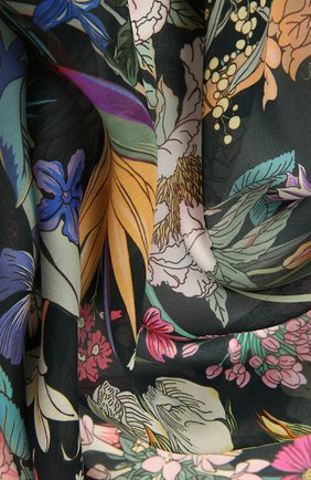 Женский шелковый платок 100 flowers RADICAL CHIC черного цвета, арт. 402672.23.03   Фото 2