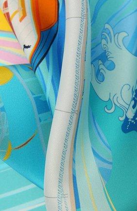 Женский шелковый платок regatta RADICAL CHIC голубого цвета, арт. 551071.07.02   Фото 2