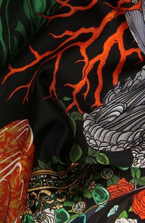 Женский шелковый платок kitty RADICAL CHIC черного цвета, арт. 550651.07.02   Фото 2