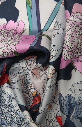 Женский шелковый платок cow wow RADICAL CHIC темно-синего цвета, арт. 521982.07.02   Фото 2