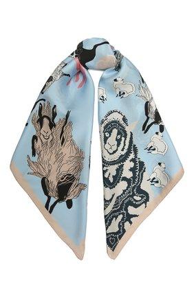 Женский шелковый платок lazy daisy RADICAL CHIC голубого цвета, арт. 570012.07.02   Фото 1