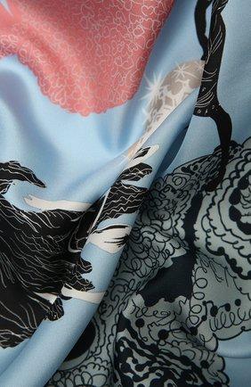 Женский шелковый платок lazy daisy RADICAL CHIC голубого цвета, арт. 570012.07.02   Фото 2
