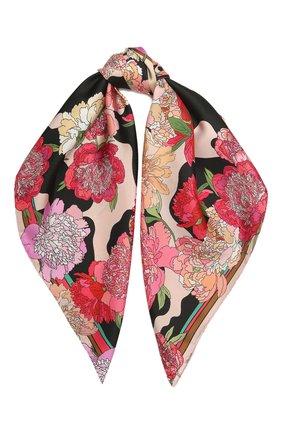 Женский шелковый платок cow wow RADICAL CHIC розового цвета, арт. 521984.07.01   Фото 1