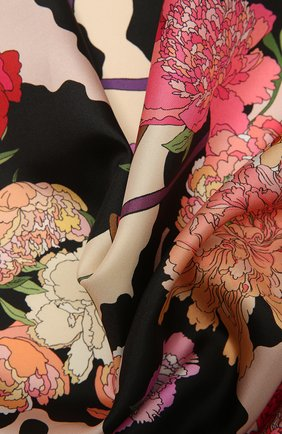 Женский шелковый платок cow wow RADICAL CHIC розового цвета, арт. 521984.07.01   Фото 2