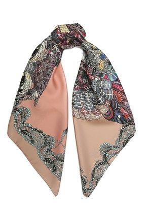 Женский шелковый платок expert RADICAL CHIC розового цвета, арт. 271371.07.02   Фото 1
