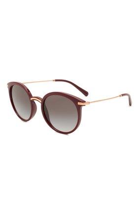 Женские солнцезащитные очки DOLCE & GABBANA бордового цвета, арт. 6158-32858G | Фото 1