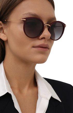 Женские солнцезащитные очки DOLCE & GABBANA бордового цвета, арт. 6158-32858G | Фото 2