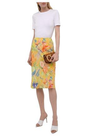 Женская шелковая юбка RALPH LAUREN желтого цвета, арт. 290842611   Фото 2