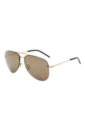 Женские солнцезащитные очки SAINT LAURENT золотого цвета, арт. SL 51 MASK | Фото 1