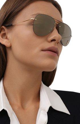 Женские солнцезащитные очки SAINT LAURENT золотого цвета, арт. SL 51 MASK | Фото 2