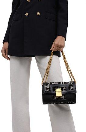 Женская сумка 1945 small BALMAIN черно-белого цвета, арт. WN1BJ605/TJGH | Фото 2