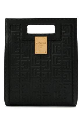Женский сумка-тоут 1945 small BALMAIN черного цвета, арт. WN1BK657/LESP | Фото 1