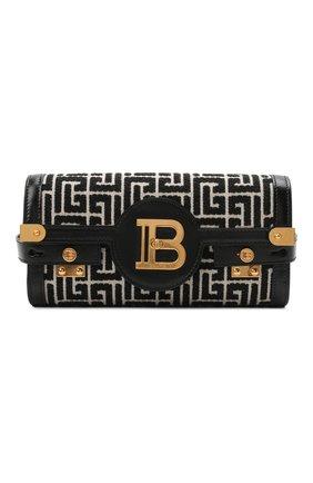 Женская сумка buzz 23 BALMAIN черно-белого цвета, арт. WN1LE596/TJGH | Фото 1