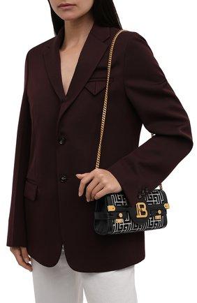Женская сумка buzz 23 BALMAIN черно-белого цвета, арт. WN1LE596/TJGH | Фото 2