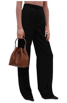 Женская сумка bon bon JIMMY CHOO коричневого цвета, арт. B0N B0N BUCKET/CLF | Фото 2