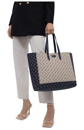 Женский сумка-тоут laylin JIMMY CHOO синего цвета, арт. LAYLIN T0TE/JQQ | Фото 2