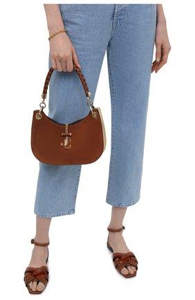 Женская сумка varenne JIMMY CHOO коричневого цвета, арт. VARENNE H0B0/S/PIV | Фото 2