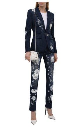 Женский джинсовый жакет RALPH LAUREN темно-синего цвета, арт. 290840795 | Фото 2 (Длина (для топов): Стандартные; Рукава: Длинные; Материал подклада: Купро; Материал внешний: Хлопок; Кросс-КТ: Деним; Стили: Гламурный; Случай: Коктейльный; Женское Кросс-КТ: Жакет-одежда; 1-2-бортные: Однобортные)