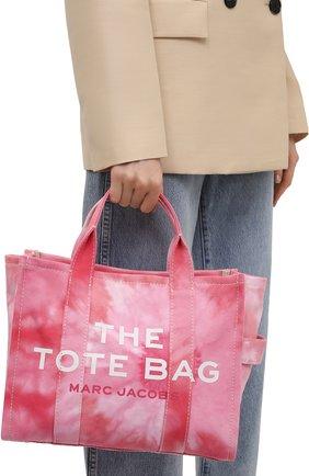 Женский сумка-тоут the traveller small MARC JACOBS (THE) розового цвета, арт. H014M02PF21   Фото 2