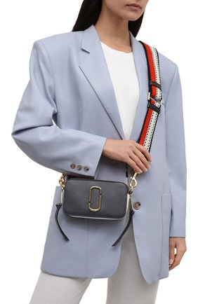 Женская сумка snapshot small MARC JACOBS (THE) темно-серого цвета, арт. M0012007   Фото 2