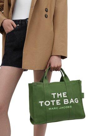 Женский сумка-тоут the traveller small MARC JACOBS (THE) зеленого цвета, арт. M0016161 | Фото 2